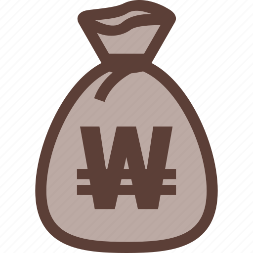 bag, bank, business, money, won icon