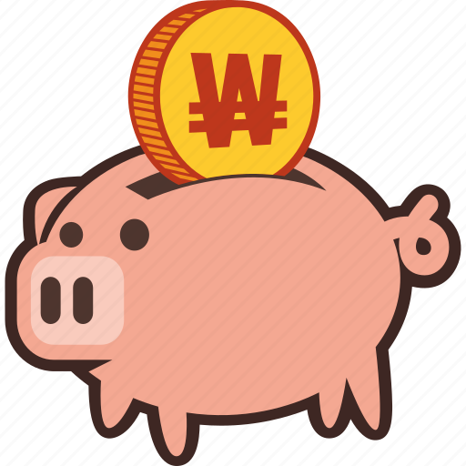 bank, money, piggy, savings, won icon