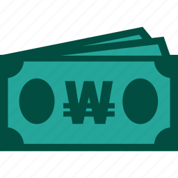 bills, cash, currency, money, payment, won icon
