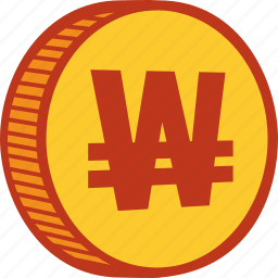 cash, coin, currency, financial, money, payment, won icon