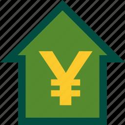 ascendance, ascending, cash, finance, money, yen icon