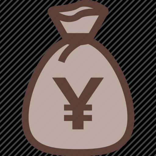 bag, bank, business, money, yen icon