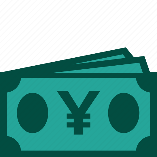 bills, cash, currency, money, payment, yen icon