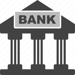 bank, banking, building, finance, financial, money icon