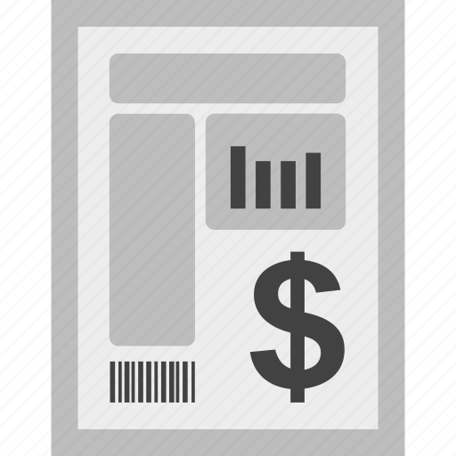 bill, charges, currency, dollar, invoice, payment icon