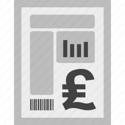 bill, charges, currency, invoice, payment, pound icon
