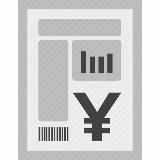 bill, charges, currency, invoice, payment, yen icon