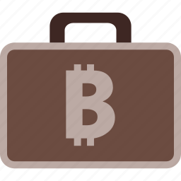 bitcoin, business, case, finance, money, payment icon