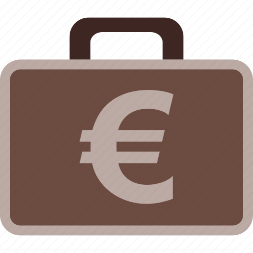 business, case, euro, finance, money, payment icon
