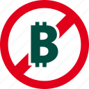 bitcoin, cash, currency, financial, forbidden, money, prohibited icon