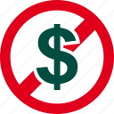 cash, currency, dollar, financial, forbidden, money, prohibited icon