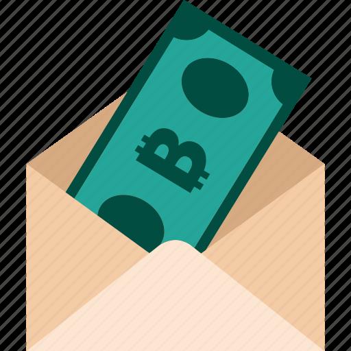 bitcoin, cash, money, payment, send, tranfer icon