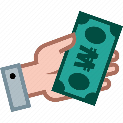 currency, hand, money, payment, shopping, won icon