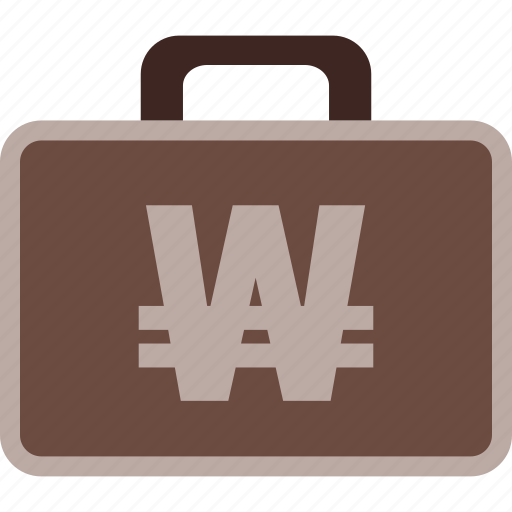 Business, currency, korean, money, suitcase, won icon - Download on Iconfinder