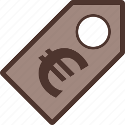 discount, euro, label, money, sale icon
