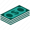 bill, bills, currency, dollar, money, stack icon