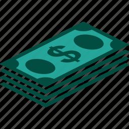 bill, bills, currency, dollar, money, stack icon