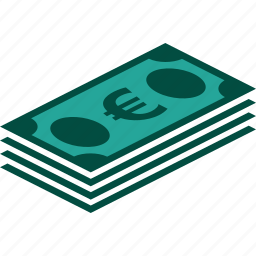 bill, bills, currency, euro, money, stack icon