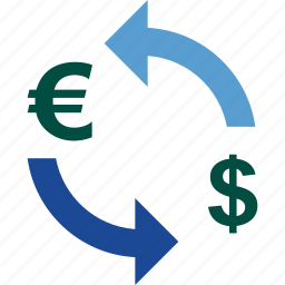 currency, dollar, euro, exchange, money, rate, to icon