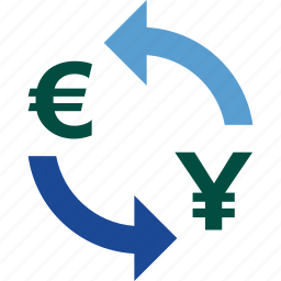 currency, euro, exchange, money, rate, to, yen icon