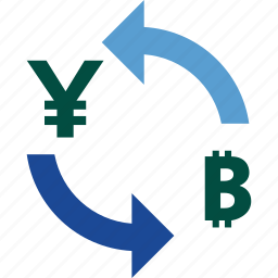 bitcoin, currency, exchange, money, rate, to, yen icon
