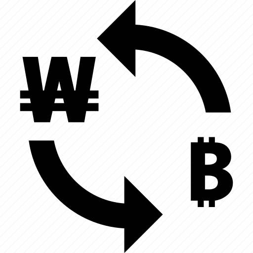bitcoin, exchange, rate, to, won icon