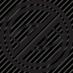 correction, edit, eye, no, sight icon