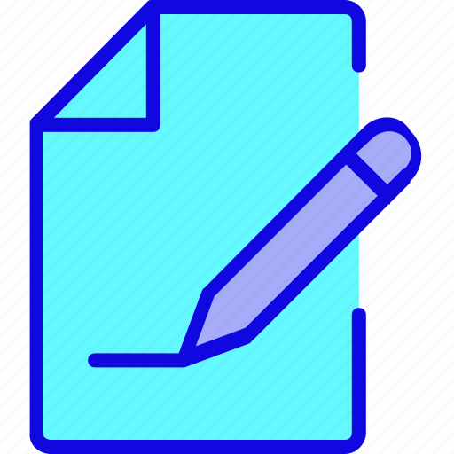 page, paper, pen, pencil, sheet, write, writing icon