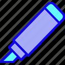 emphasize, highlight, line, marker, spidol, stabilo, thick