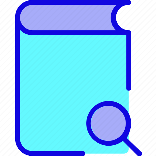agenda, book, document, editorial, note, notebook, search icon