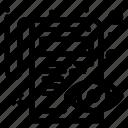 document, edit, pencil, view icon