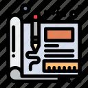 blueprint, design, engineering, sketch