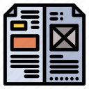 book, design, editorial, layout, media icon