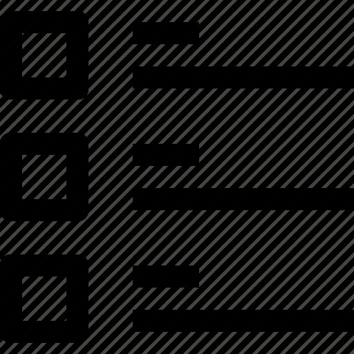 alignment, editorial, list icon