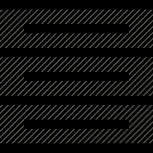 alignment, center, editorial, text icon