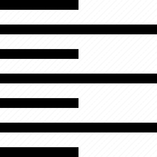alignment, editorial, left, text icon