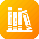 book, bookshelf, education, knowledge icon