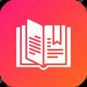catalog, education, learning, open, reading icon