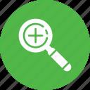 add, checkmark, done, explore, find, magnifier, search icon