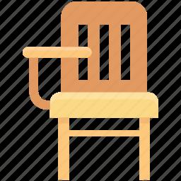 chair, classroom chair, computer chair, desk chair, student chair icon