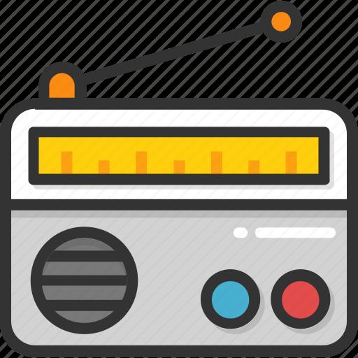 electronics, media, radio, radio set, transmission icon