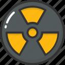 hazard, nuclear, radiation, radioactive, warning icon