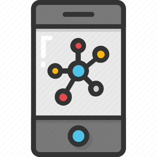 atom, cell phone, iphone, mobile, smartphone icon