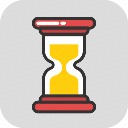 egg timer, hourglass, processing, sand timer, timer icon