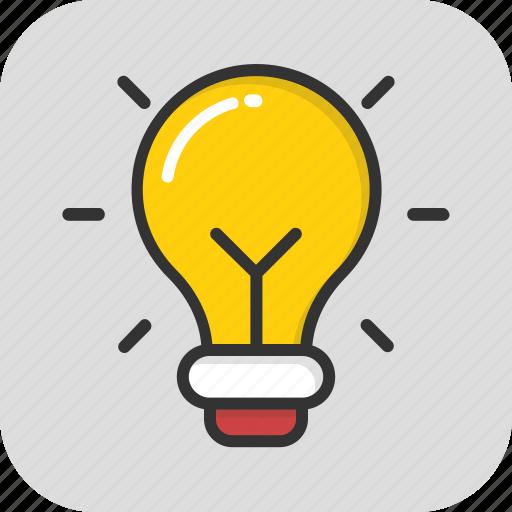 bulb, creativity, electric, idea, light icon