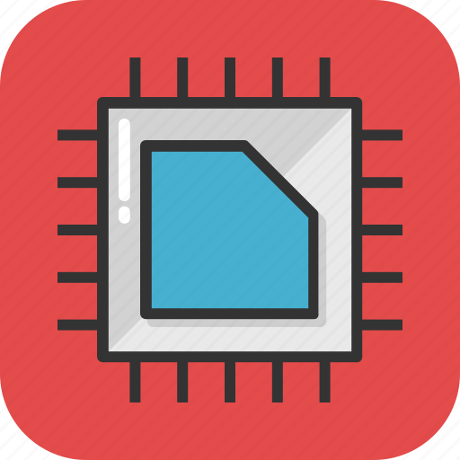 chip, electronic, hardware, microprocessor, processor chip icon