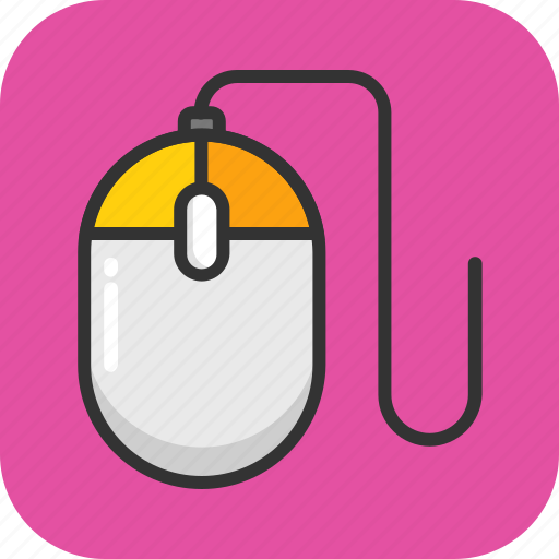 computer mouse, computing, device, mouse, pointing device icon