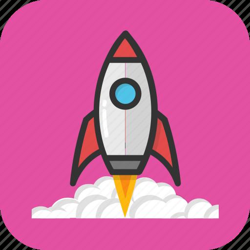 launch, missile, rocket, spacecraft, spaceship icon