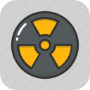 hazard, nuclear, radiation, radioactive, warning icon