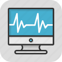 cardiology, ecg, ekg, healthcare, lifeline icon